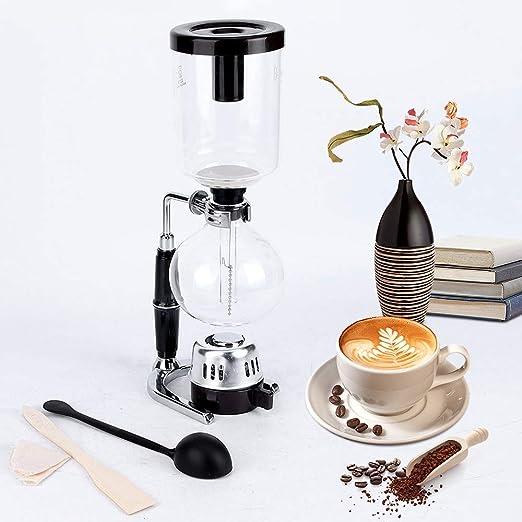 HUKOER Siphon Technica Elegante Cafetera de vacío para café y té ...