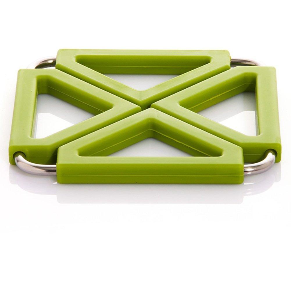 ZHAS hot pad/Kitchen stainless steel silicone heat-resistant mat/Place mat/table mat/mat/pot mat-C 12x12cm(5x5inch)