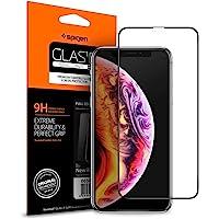 Spigen Full Cover  Cam Ekran Koruyucu iPhone 11 Pro Max/XS Max ile Uyumlu / Tam Kaplayan - Black (1 Adet)
