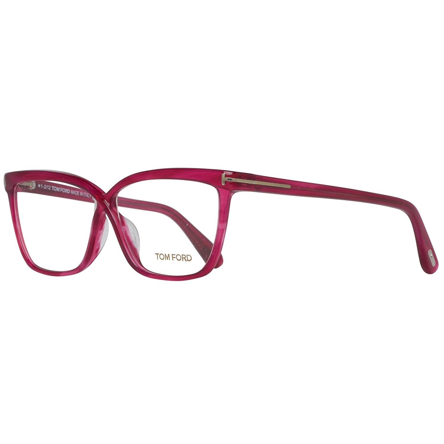 b9bcf6730a Amazon.com  Tom Ford frame (TF-4267 077) Acetate Pink fuschia fuchsia   Clothing