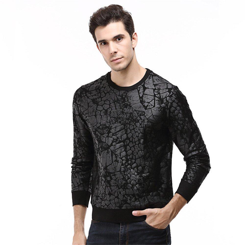 Männer - Mode - lässige Hemd - t - Shirt - Shirt größe Pullover,schwarz,4XL