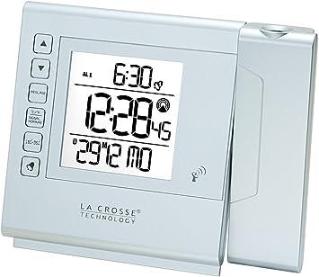 La Crosse Technology WT517 Réveil Radio Piloté avec Projection Blanc