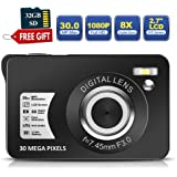 30 Mega Pixels Digital Camera 2.7 Inch HD Camera Rechargeable Mini Camera Students Camera Pocket Digital Camera with 8X…