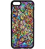 Disney Stained Glass Inspired Rubber Bumper Hard Back Phone Case Cover for iPhone & Samsung's