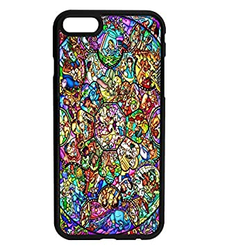 wholesale dealer 2118a 9e6eb Disney Stained Glass Inspired Rubber Bumper Hard Back Phone Case Cover for  iPhone & Samsung's