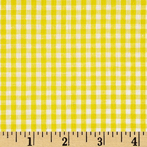 Richland Textiles Richcheck 60in Gingham Check 1/8in Yellow Fabric by The ()