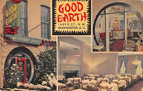 Earth Linen (Washington DC Good Earth Chinese Restaurant Interior Linen Antique PC J33181)