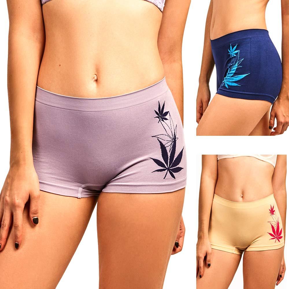 51cb4e50f80d Amazon.com: 3 Seamless Boyshort Women Underwear Booty Panties Boxer Brief  Stretch Yoga Dance: Health & Personal Care
