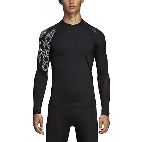 9d7f9dc4 adidas Men's Alphaskin Sport Long Sleeve Badge of Sport Tee, Black, 3X-Large