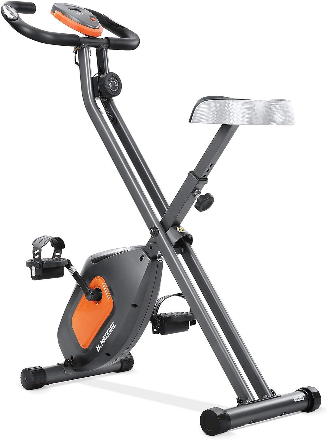 MaxKare Exercise Bike Stationary Folding Magnetic Exercise Bike