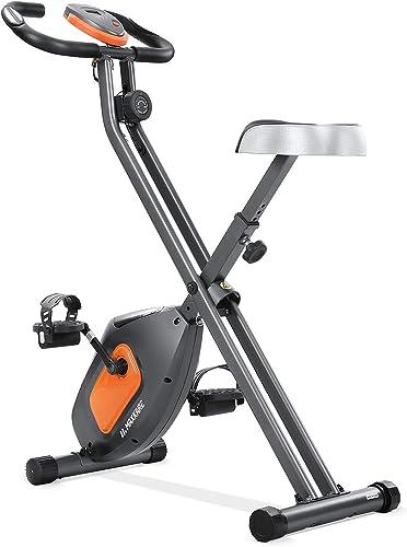 MaxKare Exercise Bike Stationary Folding Magnetic Exercise Bike Machine Magnetic
