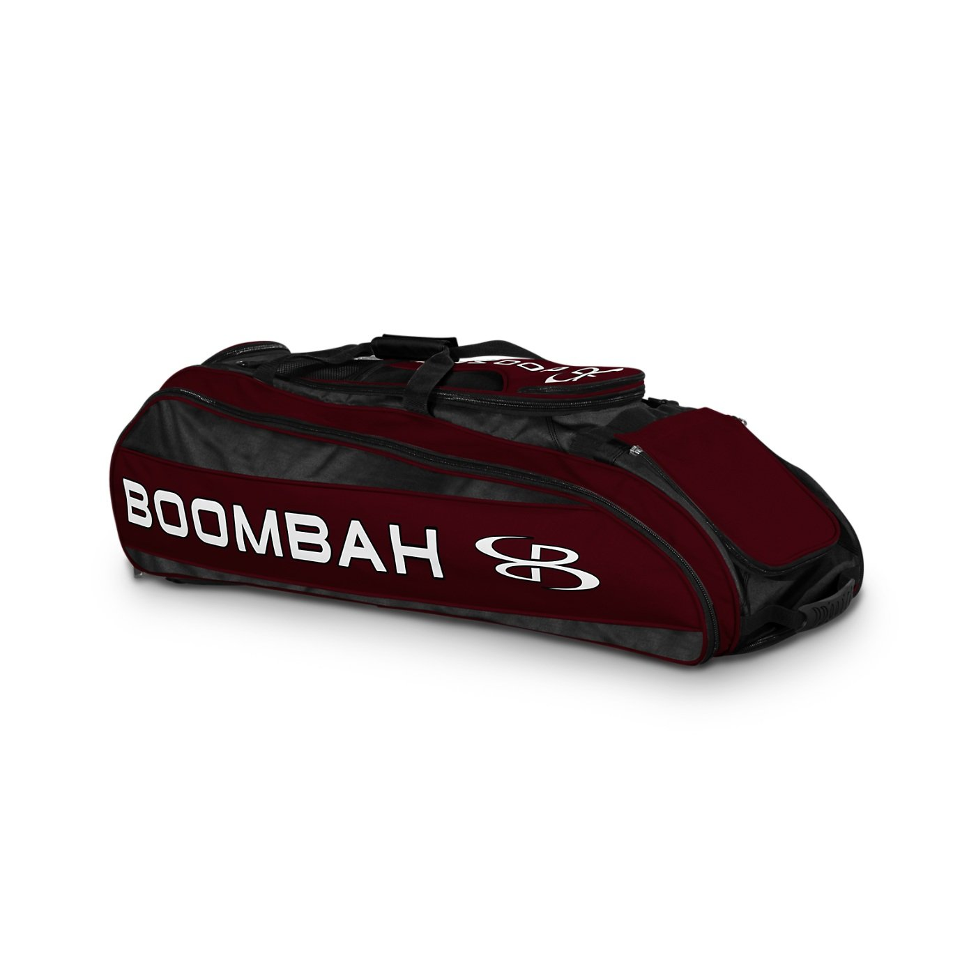Boombah Beast Baseball / Softball Bat Bag - 40'' x 14'' x 13'' - Black/Maroon - Holds 8 Bats, Glove & Shoe Compartments by Boombah (Image #1)