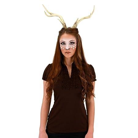 Deer Antlers Adult Halloween Costume Accessory Bambi Moose Elk Reindeer Nature Animal  sc 1 st  Amazon UK & Deer Antlers Adult Halloween Costume Accessory Bambi Moose Elk ...