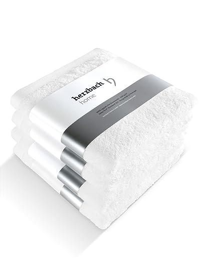 Herzbach Home Toallas de mano set de 4calidad Premium 100% algodón