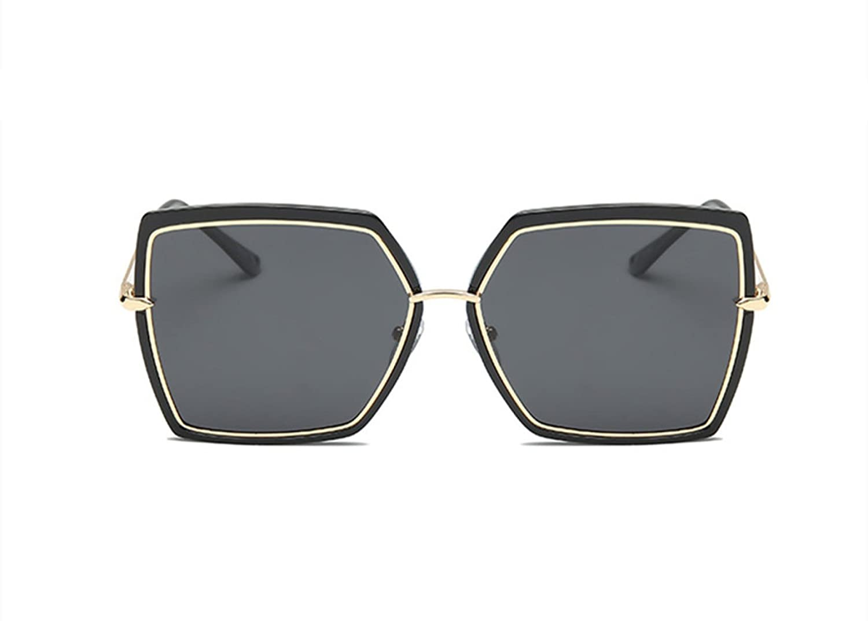 2018 Neue Große Box Polarisierte Mode Trend Square Street Beat Vier-Farben-Unisex-Sonnenbrille,Silver
