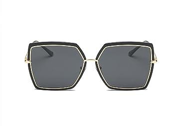 2018 Neue Große Box Polarisierte Mode Trend Square Street Beat Vier-Farben-Unisex-Sonnenbrille,Black