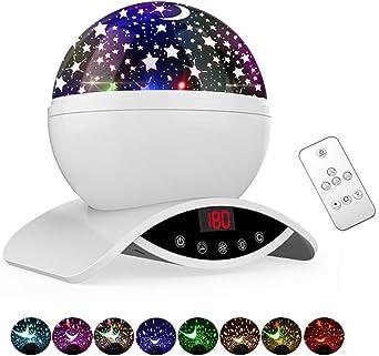 DGMAO Proyector giratorio de luz de estrella cargable: Amazon.es ...