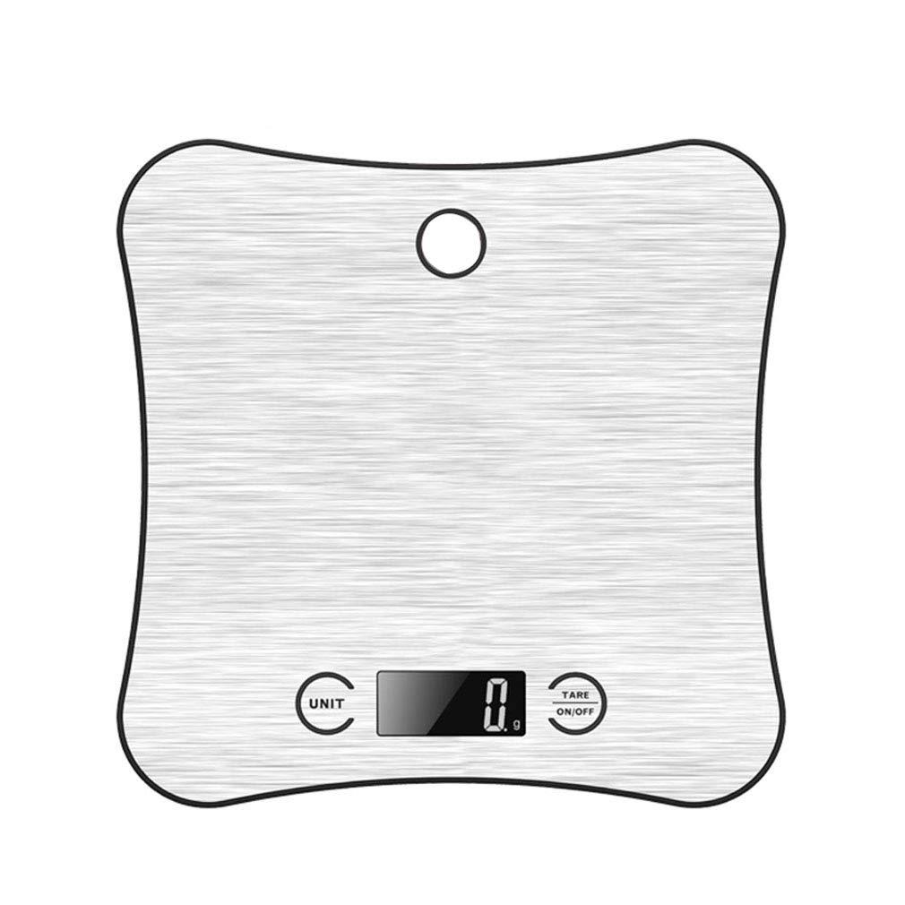 SXXDERTY Küche Digitalwaage Kochen Backen Speisenwaage 1 / 5000g Tara-Funktion Elektronische Waage LCD-Anzeige