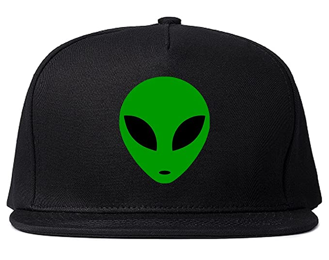 8e7dd43d7af Alien Head Green Snapback Hat Cap Black at Amazon Men s Clothing store