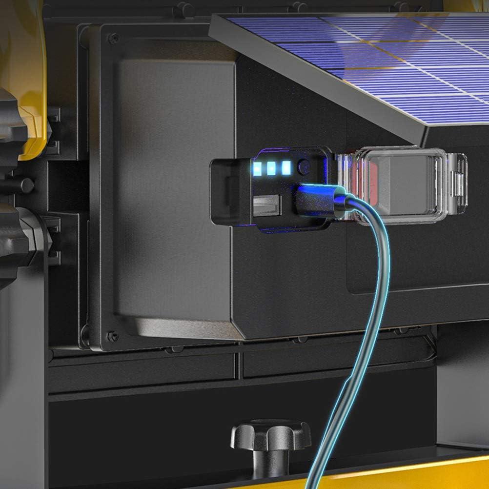 Bater/ía de 20800 mAh 6000 K Luz de Trabajo USB Recargable de 8000LM Proyector de Construcci/ón Impermeable para Obra 4 Modos Taller Foco de Construcci/ón LED Port/átil de 200 W con Panel Solar
