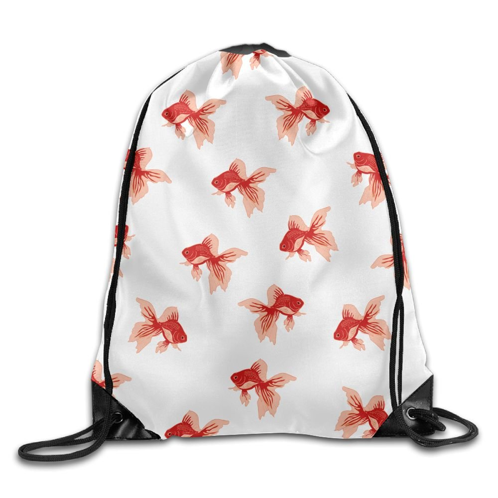 VIMUCIS Goldfish Drawstring Backpack Rucksack Shoulder Bags Training Gym Sack For Man And Women