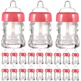 20 Pack 8ml Empty Lip Gloss Tube Baby Bottle Shaped Reusable Wand Tubes Refillable Lipgloss Containers, Pink
