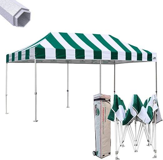 eurmax 10 x 20 Premium EZ Pop Up Canopy instantánea Carpa Boda Cenador sombra refugio Bonus de grado comercial con ruedas Bolsa: Amazon.es: Jardín