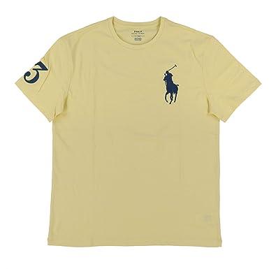 Yellow Lauren Crew T Neck Small Pony Polo Ralph Mens Shirt Big Yfbg7v6y