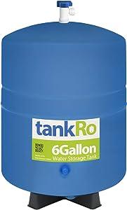 tankRo 6 Gallon RO Expansion Tank – Compact Reverse Osmosis Water Storage Pressure Tank with Free Tank Ball Valve