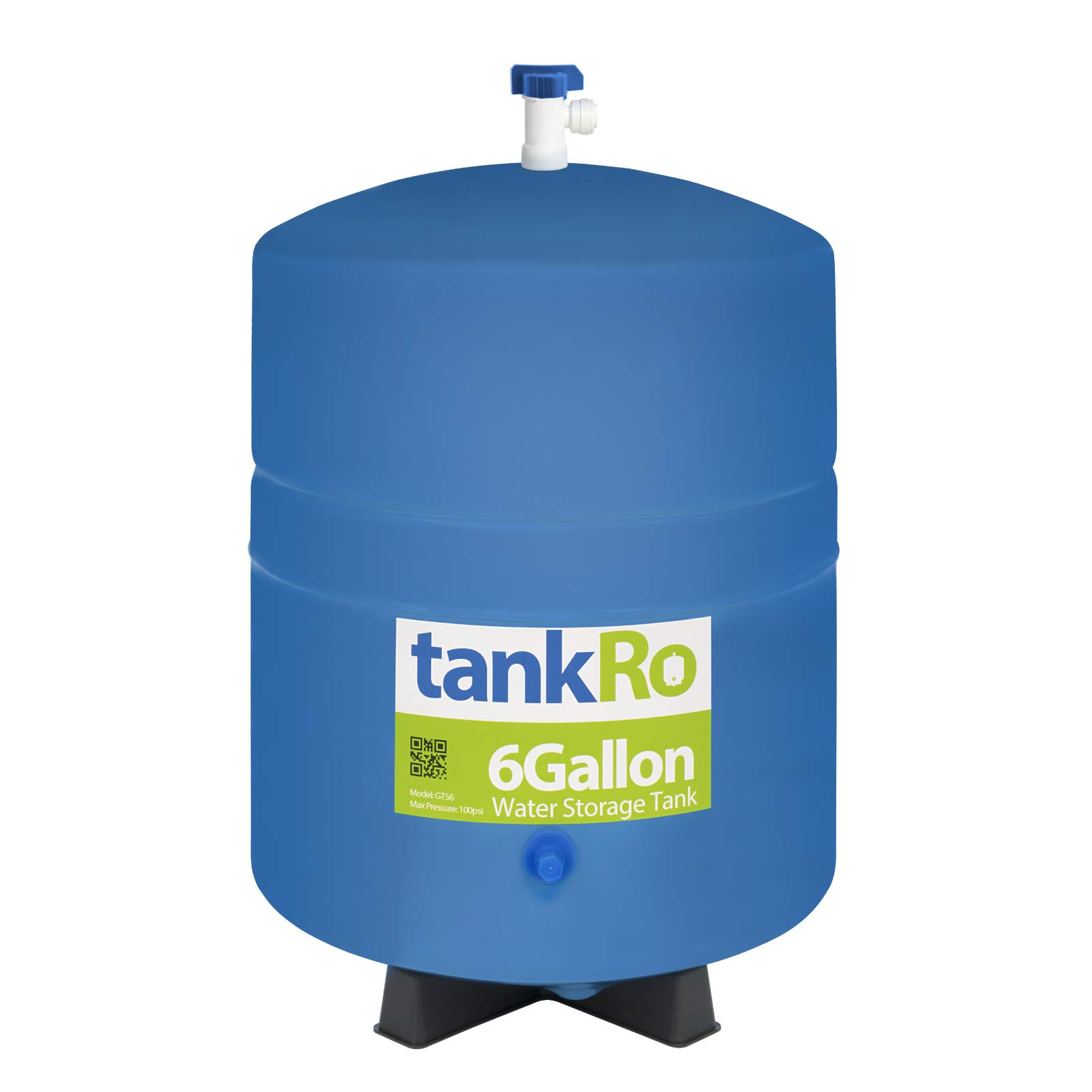 tankRo 6 Gallon RO Expansion Tank - Compact Reverse Osmosis Water Storage Pressure Tank with Free Tank Ball Valve by tankRo