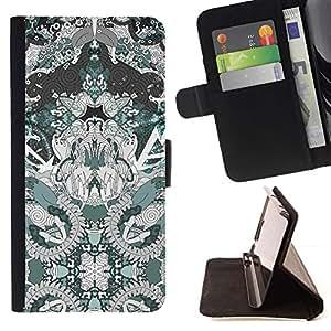 Momo Phone Case / Flip Funda de Cuero Case Cover - Arte Dibujo Patrón Espiritual - Samsung Galaxy J1 J100