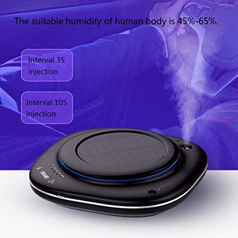 Solar Ambientador Humidificador Coche - Mini Portatil Humidificador Aromaterapia Difusor De Aceites Esenciales Difusor De Aroma