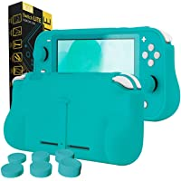 Orzly Grip Case for Nintendo Switch Lite – Case with Comfort Padded Hand Grips, Kickstand, & Pack of Thumb Grips…