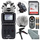 Zoom H5 Handy Recorder Deluxe Bundle with Remote, Handheld/Table Tripod, Windscreen,16 GB, Batteries & FiberTique Cleaning Cloth