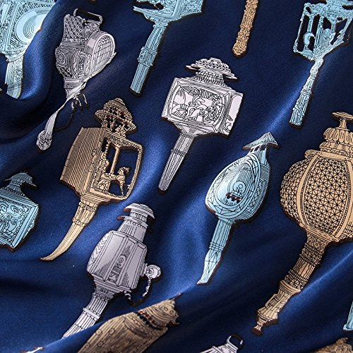 Anti scuro Seta All Estate Uv Donna Inverno Sciarpa Chale 5 Colorata Lungo Blu Sciarpa Stampa Grande 1CTgwq