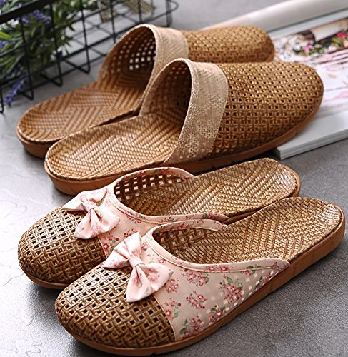 Linen Blue Men Slippers Summer Anti Indoor Flax Slip for and Shoes Kedera Outdoor Scandals Women 4dwCRqd