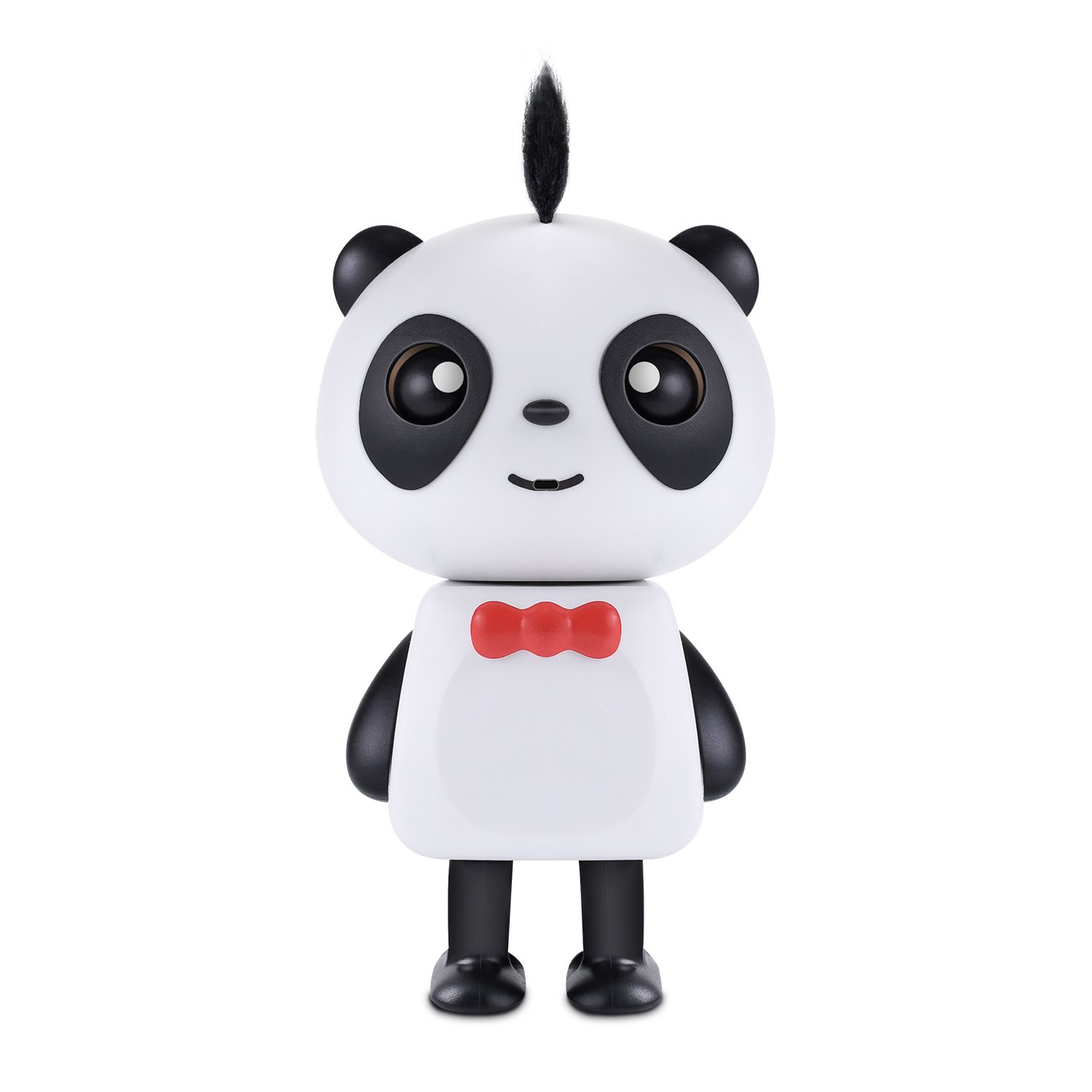 YKL WORLD Novelty Baby Panda Toy Rechargeable LED Dancing Music Panda Robot Bluetooth Speaker Gift Kids Boys Girls Black White