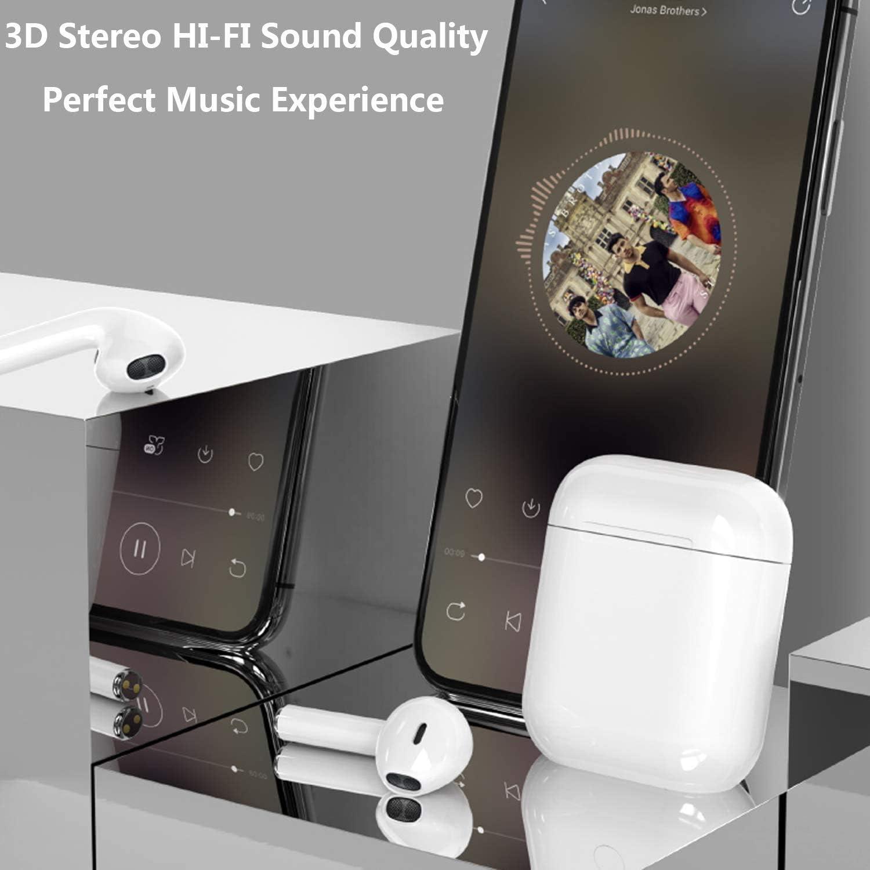 /écouteurs Sportifs avec IPX7 /Écouteurs 3D st/ér/éo /étanches dans loreille Int/égr/é HD Mic Casques pour Android Samsung//iPh /Écouteur Bluetooth 5.0 /Écouteur sans Fil avec r/éduction de Bruit