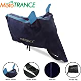 Mototrance - Sporty Arc Blue Aqua Bike Body Cover for TVS Jupiter