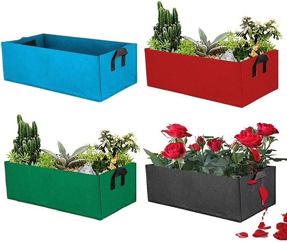 Jardinera con Camas elevadas de 120 litros (4 Pack) - Bolsas de Cultivo - Maceta de Tela con aireación para el Cultivo de Verduras, Plantas y Flores - 100 x 60 x 20 cm