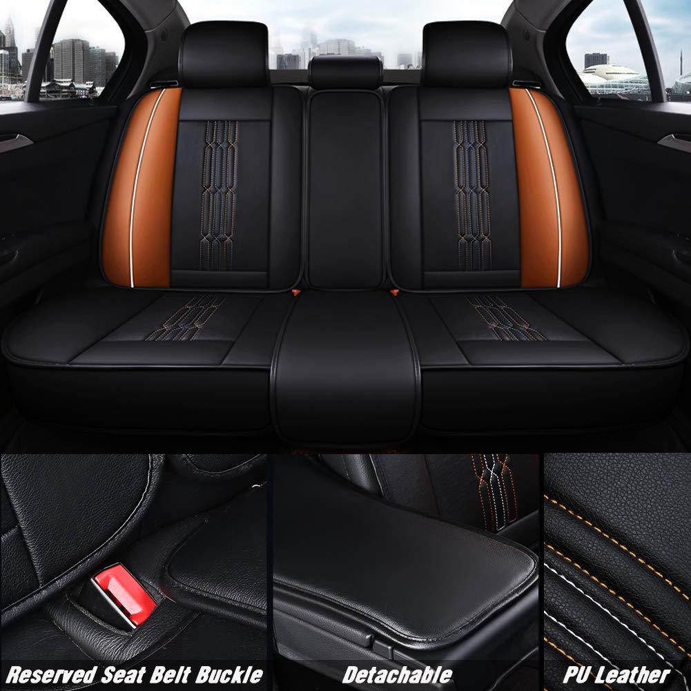Passenger /& Rear Floor 2010 2009 GGBAILEY D3867A-S1A-BLK/_BR Custom Fit Car Mats for 2008 2011 Ford Focus Sedan Black with Red Edging Driver