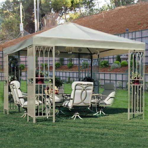 Garden Winds Summer Island Gazebo Replacement Canopy Top Cover – RipLock 350