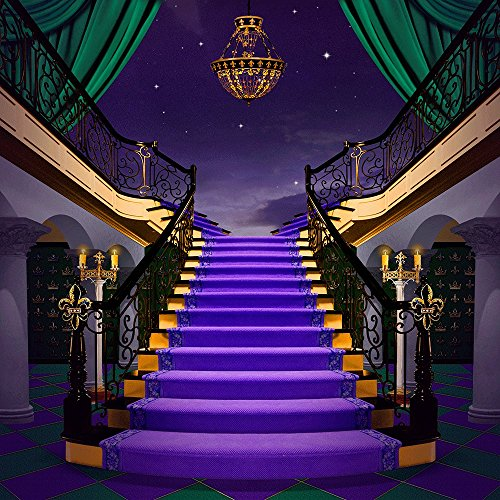 Photography Backdrop - Mardi Gras with Style- 10x10 Ft. Seamless (Masquerade Ball Backdrops)