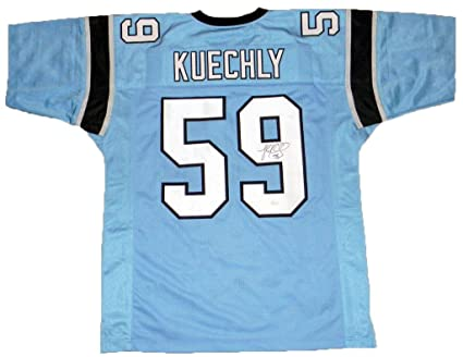 Image Unavailable. Image not available for. Color  Luke Kuechly Autographed  Jersey -  59 Blue - JSA ... f47079e03
