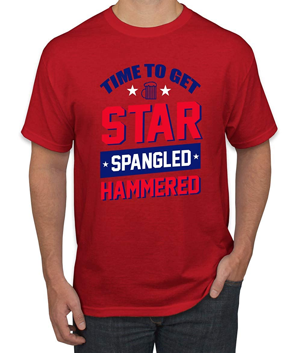 Time To Get Star Spangled Hammered Usa Beer 4th Of July S Drinking Graphic Tshirt