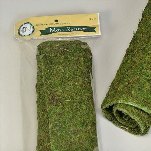 Dried Moss Table Runner by DriedDecor.com