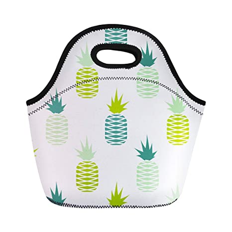 Amazoncom Semtomn Neoprene Lunch Tote Bag Abstract Green
