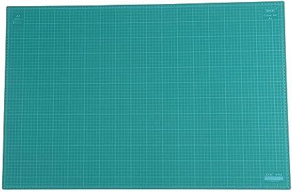 Schneidematte Cutting Mat selbstheilend DIY-Schnitzwerkzeug gr/ün mit Raster doppelseitig A1 5-lagige dicke PVC-Schneidunterlage