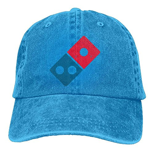 HONGSH Cowboy Caps Hats Dominos Pizza Logo Unisex Baseball Sport Outdoor - Domino Outdoor Fabric