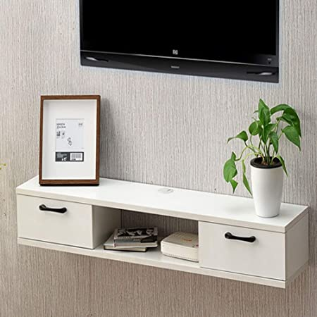 SXFYZCY Mueble de TV de Madera Maciza para Colgar en la Pared Decodificador de Pared Dormitorio Gabinete de TV Minimalista Moderno de 100 cm × 24 cm × 16 cm: Amazon.es: Hogar